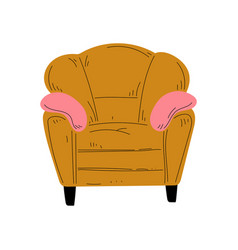 comfortable armchair with pillows cushioned vector image