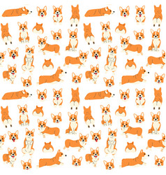corgi in action seamless pattern vector image