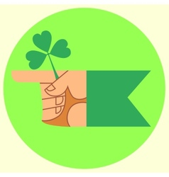 cursor on the festival day of Patrick hand and vector image