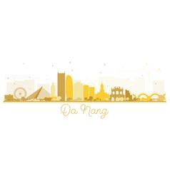 Da nang vietnam city skyline silhouette with vector