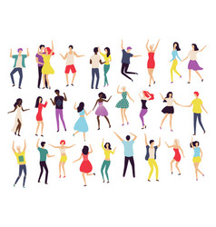 dancing people waltz classic and modern dance vector image