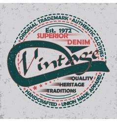 Denim typogrphy print vector