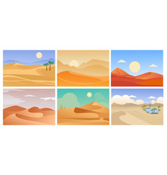 desert landscape cartoon tropical exotic vector image