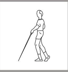 Design sketch a street blind man using vector