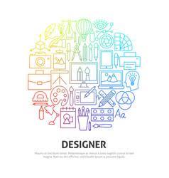 designer circle concept vector image