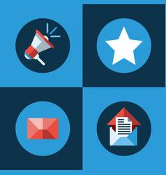 digital marketing megaphone star envelope vector image