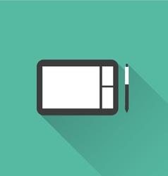Digital sketchpad icon vector
