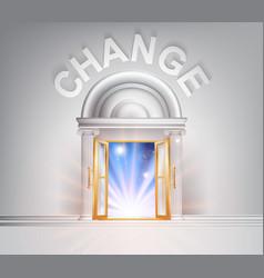 Door to change vector