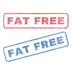 fat free textile stamps vector image