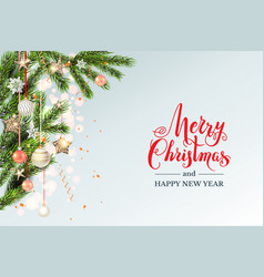 festive light christmas template vector image