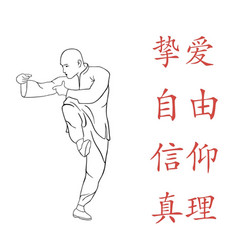 Figure a man demonstrates kung fu vector