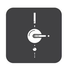 Flat color hoist icon vector