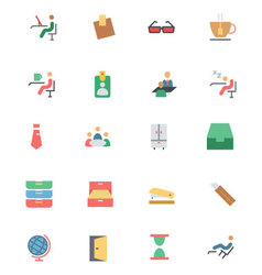 Flat Office Icons 4 vector