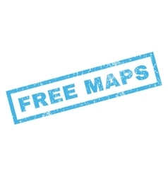 Free Maps Rubber Stamp vector image