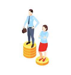 Gender salary gap composition vector