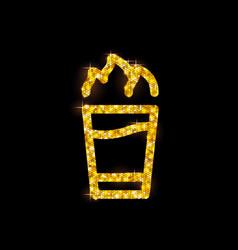 golden cocktail flat icon hiroshima vector image