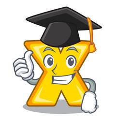 Graduation cartoon multiply of a delete sign vector