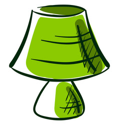 green lamp drawing on white background vector image
