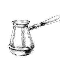 Hand drawn cezve vector