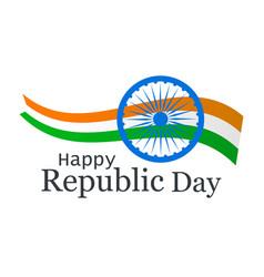 happy republic day of india national flag and vector image