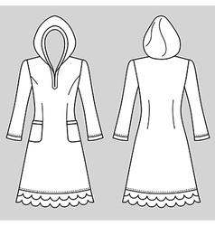 House dress nightdress vector