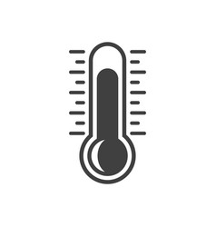icon thermometer on white vector image