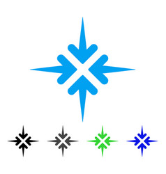 Impact arrows flat icon vector