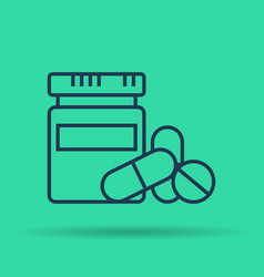 isolated icon of medications tablets and pills vector image