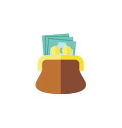 Isolated payment flat icon pouch element vector