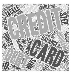 Looking For A Solution To Your Credit Card Debt vector image