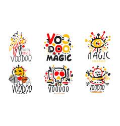 Magic voodoo original design logo collection vector
