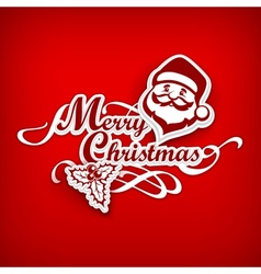 Mary Christmas poster on red vector image
