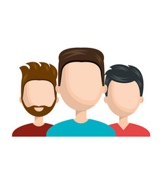 men team work social network avatar isolated vector image