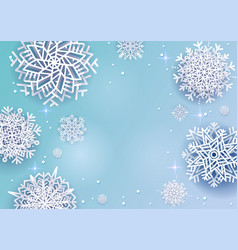origami snowfall background with space for text vector image