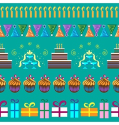 Pattern with party elements vector image