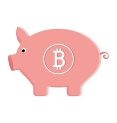 Pink pig moenybox graphic vector