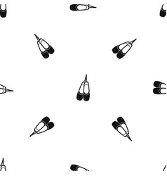 pointe shoes pattern seamless black vector image