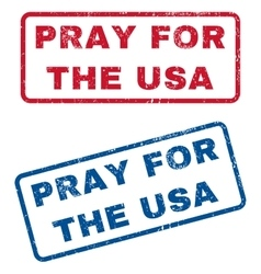 Pray for the usa rubber stamps vector