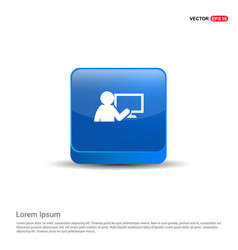 Presentation on business growth icon - 3d blue vector