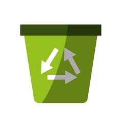 Recyclable eco friendly icon image vector