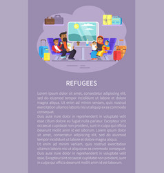 refugees people on poster vector image