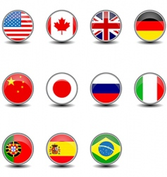 Round flags vector