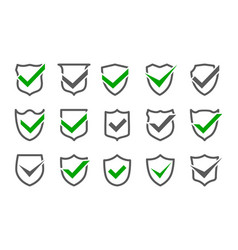 safety marks shields vector image