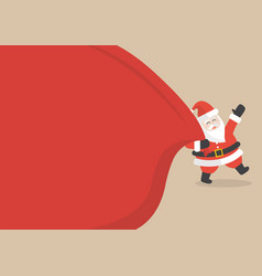 santa claus with huge bag copyspace vector image