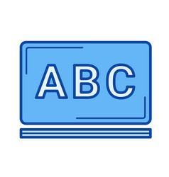 school chalkboard line icon vector image vector image