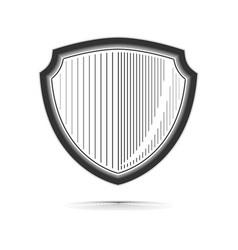 shield realistic monochrome vector image