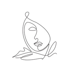 Single continuous line drawing beautiful vector