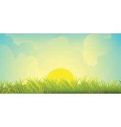 Skies and grass vector