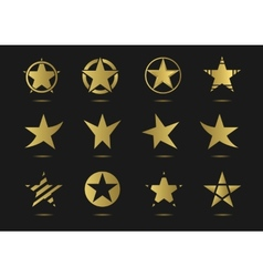 Star logo icon set vector