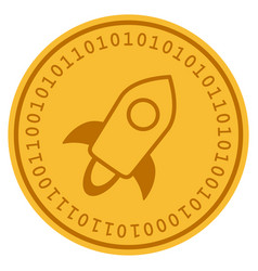 Stellar currency digital coin vector